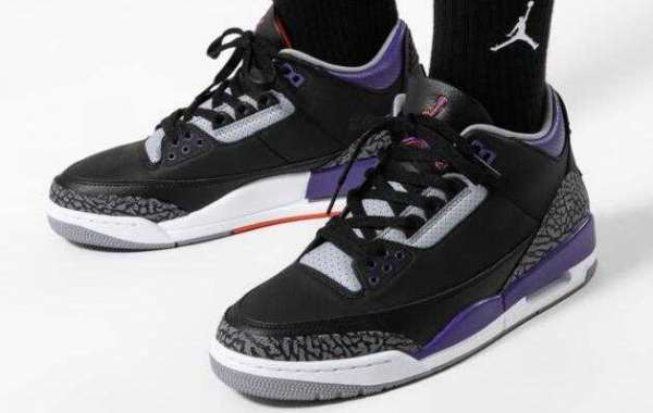 Save 30% to Buy New Release Air Jordan 3 Court Purple Sneakers
