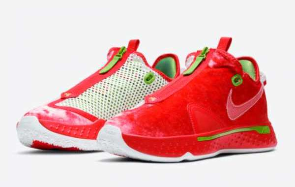 "2020 Mens Nike PG 4 ""Christmas"" Basketball Shoes Outlet Sale CD5082-602"