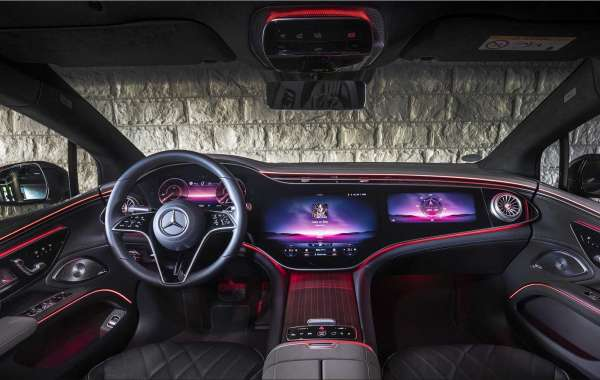 The new Mercedes-Benz EQS 450+ luxury electric car